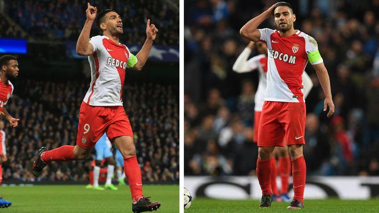 Falcao est passé par toutes les émotions pendant la défaite de Monaco face à Manchester City.