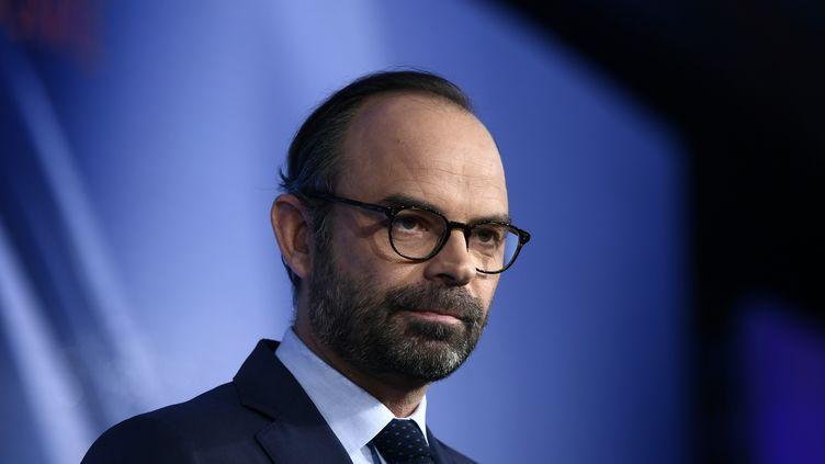 Le Premier ministre Edouard Philippe lors d'un congrès du MoDem, à Paris, le 16 décembre 2017. (PHILIPPE LOPEZ / AFP)
