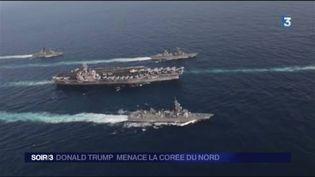 Un porte-avions américain fait route vers la péninsule coréenne. (FRANCE 3)