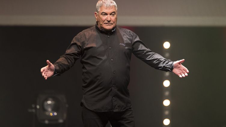 L'humoriste Jean-Marie Bigard lors d'un spectacle à Nice (Alpes-Maritimes), le 10 août 2018. (SYSPEO / SIPA)