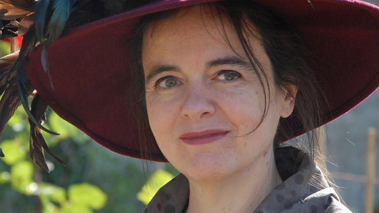 La romancière Amélie Nothomb en Juin 2014.