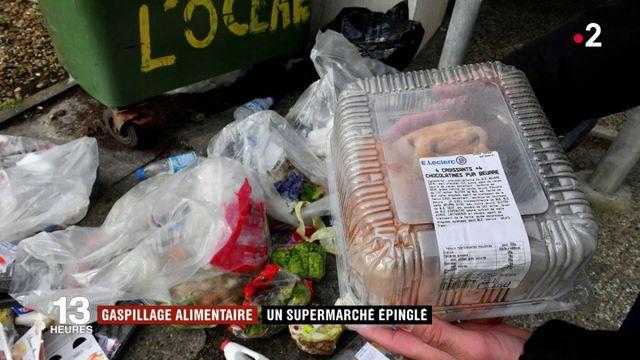 Gaspillage alimentaire : un supermarché épinglé