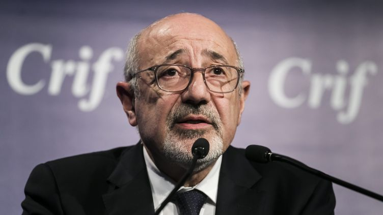 Francis Kalifat, présidentConseil représentatif des institutions juives de France (Crif), le 17 novembre 2019 à Paris. (VINCENT ISORE / MAXPPP)
