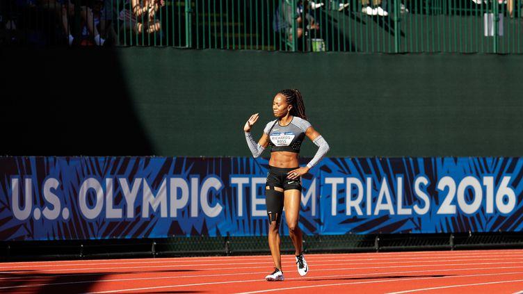 """Obligée d'abandonner lors des séries du 400m aux """"Trials"""", Sanya Richards dit adieu à la piste à un mois des JO de Rio (ANDY LYONS / GETTY IMAGES NORTH AMERICA)"""