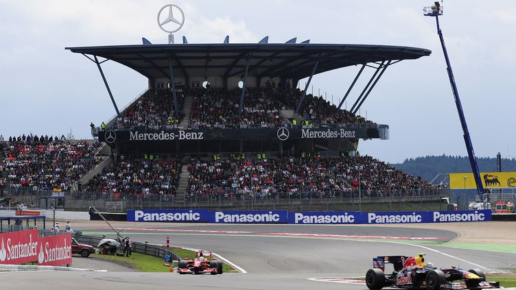 Le circuit du Nürburgring, lors du Grand Prix d'Allemagne 2009 de Formule 1 (TORSTEN SILZ / DDP)