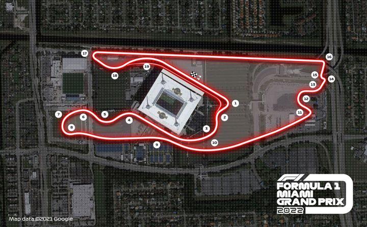 Le tracé du Grand Prix de Miami