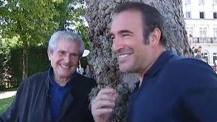 Claude Lelouch et Jean Dujardin à Angoulême  (capture d'écran Culturebox/France 2)