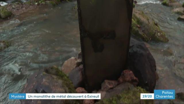 Le monolithe découvert dans les Deux-Sèvres