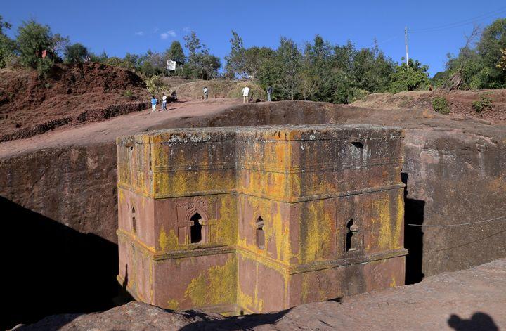 SaintGeorge, une des onze églises du site monolithique de Lalibela. (MINASSE WONDIMU HAILU / ANADOLU AGENCY)