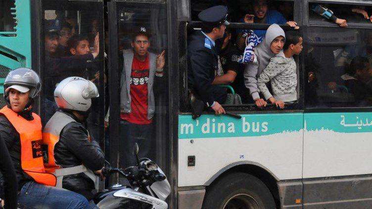 Bus bondé à Casablanca en 2013 (AFP)