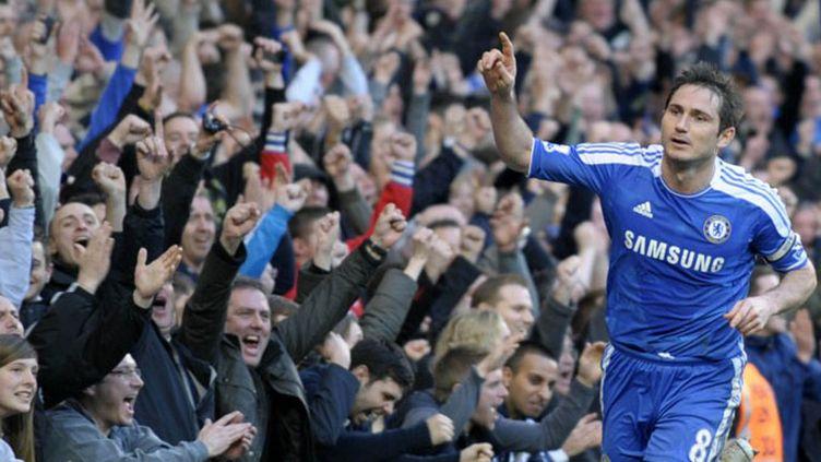 Lampard célébré à Stamford Bridge (OLLY GREENWOOD / AFP)