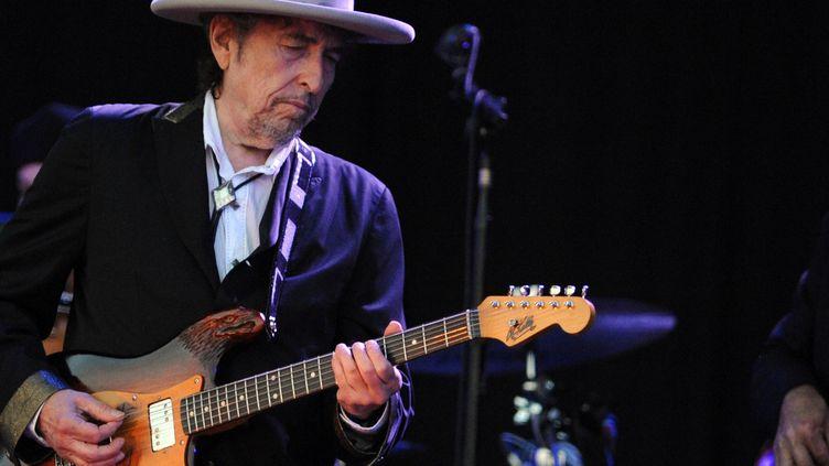 Bob Dylan aux Vieilles Charrues (Carhaix-Plouguer, Finistère) le 22 juillet 2012  (Fred Tanneau / AFP)