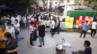 Des chômeurs en Chine (FRANCEINFO)