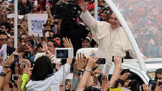 Le pape François à Manille (Philippines) le 18 janvier 2015. (JAY DIRECTO / AFP)