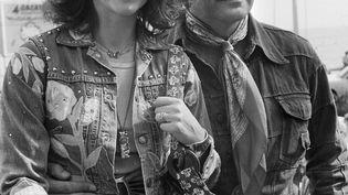 L'actrice Natalie Wood, avec son mari Robert Wagner lors du 29e festival de Cannes, le 18 mai 1976. (AFP)