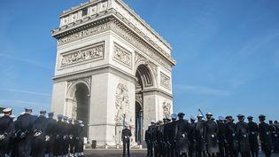 Cérémonie du 11-Novembre, à Paris, le 11 novembre 2014. (CITIZENSIDE/YANN KORBI / CITIZENSIDE.COM / AFP)