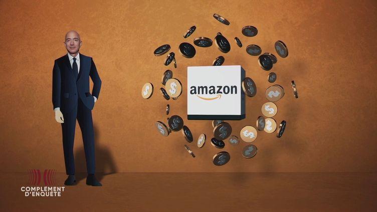 """Complément d'enquête. Une fortune de 196 milliards de dollars : """"Personne n'a autant profité de la pandémie que Jeff Bezos et Amazon"""" (COMPLÉMENT D'ENQUÊTE/FRANCE 2)"""