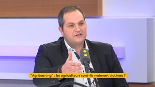 Arnaud Gaillot, secrétaire général des Jeunes agriculteurs, sur franceinfo le 22 octobre 2019. (FRANCEINFO / RADIOFRANCE)
