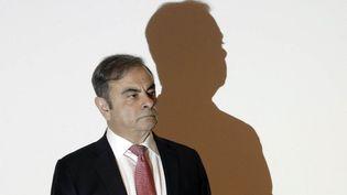 L'ancien patron de Renault-Nissan Carlos Ghosn lors d'un échange avec des journalistes à Beyrouth, au Liban, le 8 janvier 2020. (JOSEPH EID / AFP)