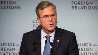 L'ancien gouverneur de Floride Jeb Bush, candidat à la primaire républicaine, lors d'un discours à New York(Etats-Unis), le 19janvier 2016. (ANDREW BURTON / GETTY IMAGES NORTH AMERICA / AFP)