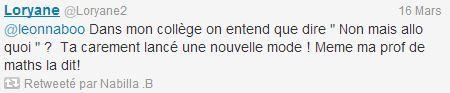 Capture d'écran du compte Twitter de Nabilla ( FRANCETV INFO)