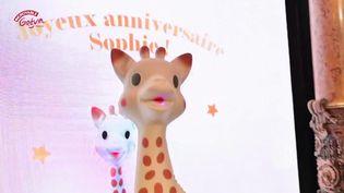 C'est une star, et elle méritait donc sa statue au musée Grévin : Sophie la girafe. (FRANCE 3)