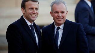 Emmanuel Macron et François de Rugy, à l'Elysée, le 12 décembre 2017. (PHILIPPE WOJAZER / REUTERS)