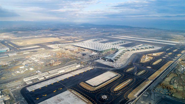 Une vue du grand aéroport d'Istanbul en chantier, le 2 octobre 2018. (AFP PHOTO /Istanbul Grand Airport press center)