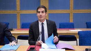 Le président de Radio France, Mathieu Gallet, avant son audition par la Commission de la culture, de l'éducation et de la communication du Sénat, le 7 mai 2015. (MAXPPP)