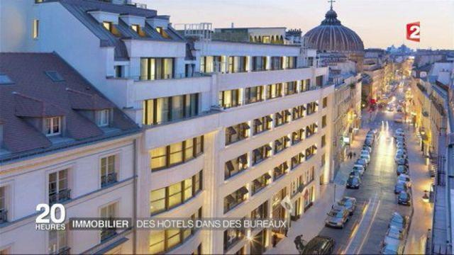 Immobilier : des hôtels dans des bureaux