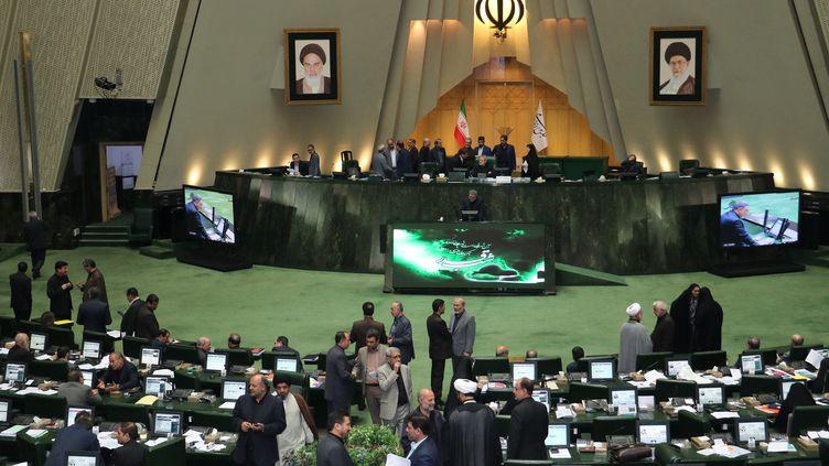 Le Parlement iranien, à Téhéran, le 26 mai 2019. (MUHAMMET KURSUN / ANADOLU AGENCY)