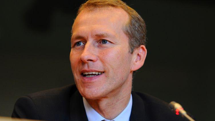 Guillaume Garot, ministre délégué à l'Agroalimentaire, le 16 octobre 2012 à Bruxelles (Belgique). (JOHN THYS / AFP)