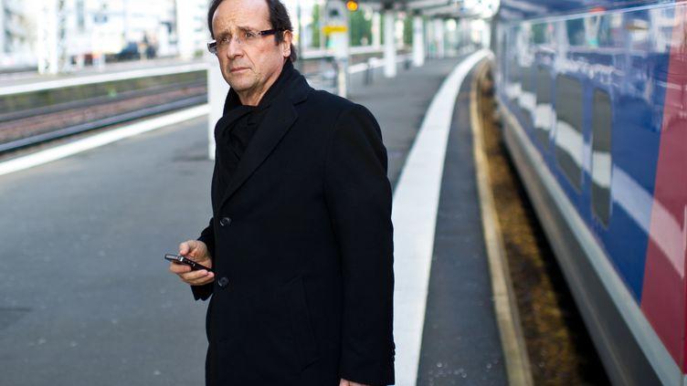 François Hollande, alors député PS de la Corrèze, le 28 février 2011 au Mans (Sarthe). (MARTIN BUREAU / AFP)