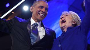 Barack Obama, président américain apporte son soutien à la candidate démocrate Hillary Clinton à Philadelphia en Pennsylvanie, le 27 juillet 2016. (ROBYN BECK / AFP)