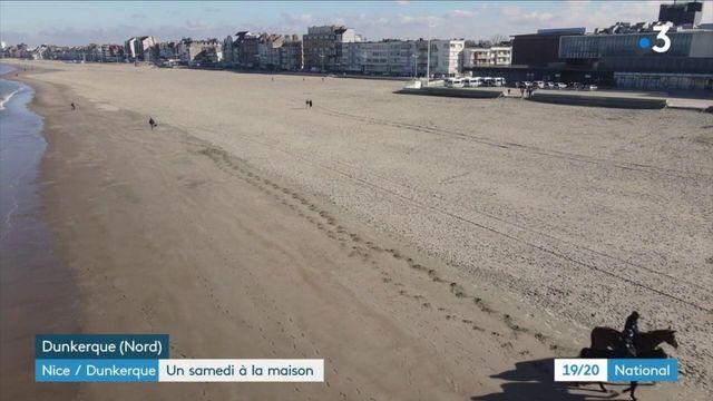 Confinement : un premier samedi à la maison dans les Alpes-Maritimes et à Dunkerque