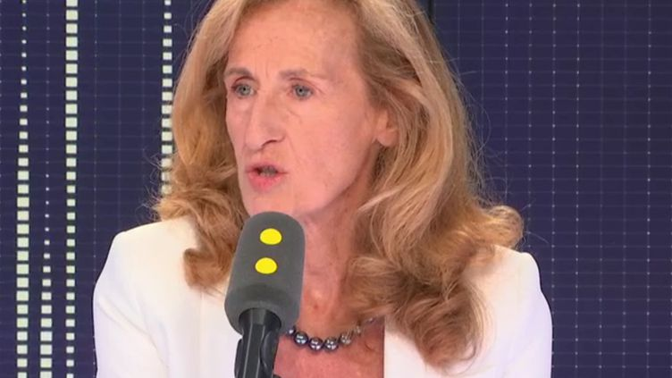 Nicole Belloubet, ministre de la Justice, invitée de franceinfo, jeudi 30 août 2018. (RADIO FRANCE / FRANCE INFO)