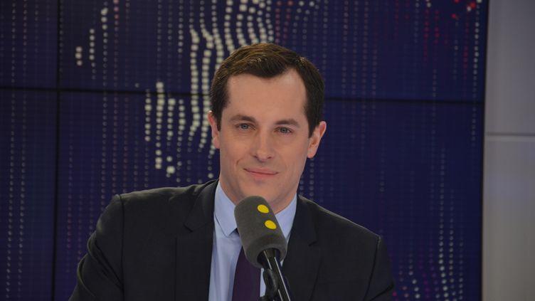 Nicolas Bay, vice-président du Front national, député européen. (JEAN-CHRISTOPHE BOURDILLAT / RADIO FRANCE)