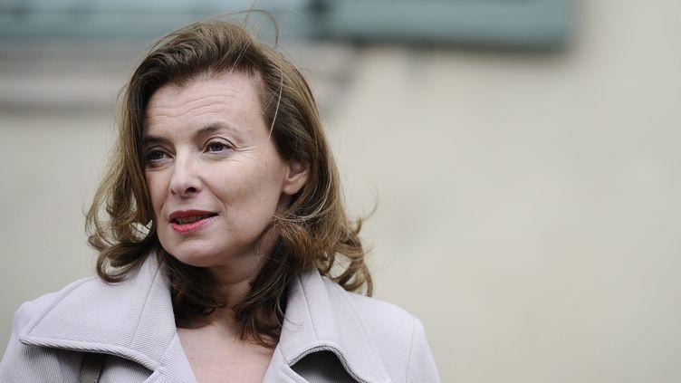 La compagne de François Hollande, Valérie Trierweiler, à Tulle (Corrèze), le 5 mai 2012. (MORIN AWAAD / MAXPPP)