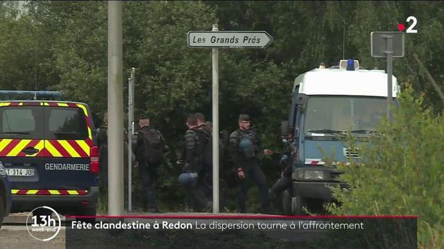 Bretagne : violents affrontements avec la police lors d'une rave party interdite