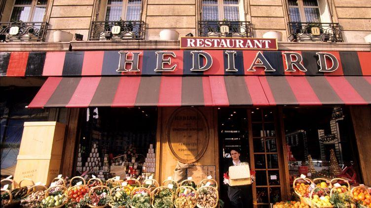 La façade de l'épicerie Hédiard, sur la place de Madeleine, à Paris, le 27 mai 2011. (STEPHANE FRANCES / ONLY FRANCE / AFP)