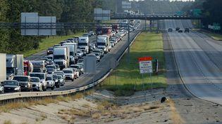 L'ordre d'évacuation a mis des milliers d'habitants de Floride (Etats-Unis) sur les routes depuis vendredi 8 septembre 2017. (CHIP SOMODEVILLA / GETTY IMAGES NORTH AMERICA / AFP)