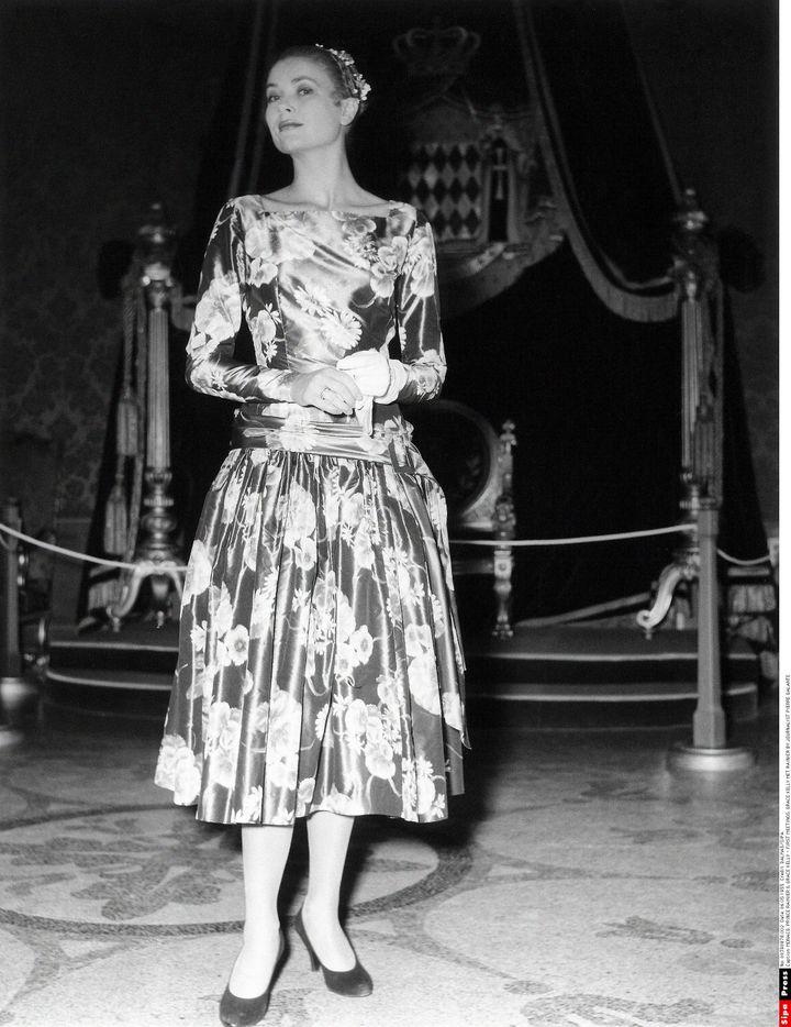 Grace Kelly au Palais princier de Monaco, le 6 mai 1955 (DALMAS/SIPA)