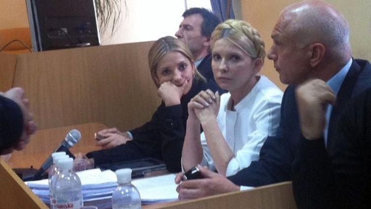 Yulia Tymoshenko le vendredi 30 septembre. (ALEXANDER PROKOPENKO / AFP)