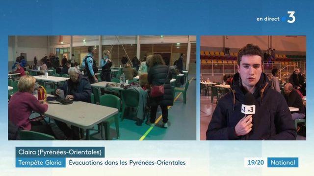 Tempête Gloria : évacuations dans les Pyrénées-Orientales