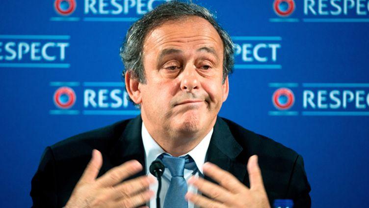 Le président de l'UEFA, Michel Platini (FEDERICO GAMBARINI / DPA)