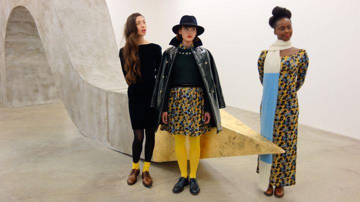 Thomsen présente sa collectionautomne-hiver 2014-2015 dans le cadre de Designers Apartment, à la galerie Perroten à Paris (février 2014)  (Corinne Jeammet)