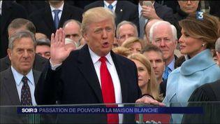 Donald Trump a été investi 45e président des États-Unis. (FRANCE 3)