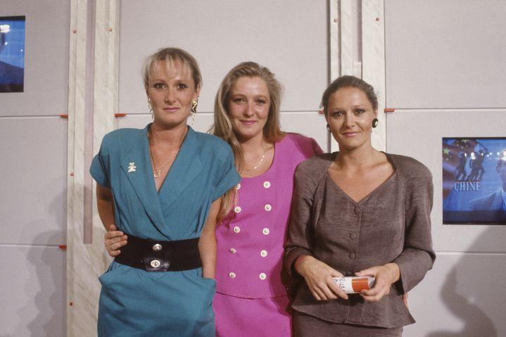 Les trois filles de Jean-Marie Le Pen dans les années 80 : de gauche à droite, Yann, Marine et Marie-Caroline. (SUZANNE RAULT BALET / SYGMA)