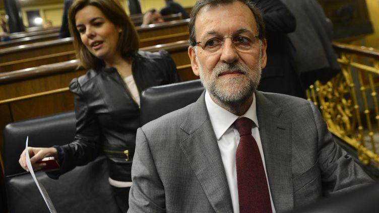 Le chef du gouvernement espagnol, Mariano Rajoy, le 30 janvier 2013 à Madrid (Espagne). (PIERRE-PHILIPPE MARCOU / AFP)