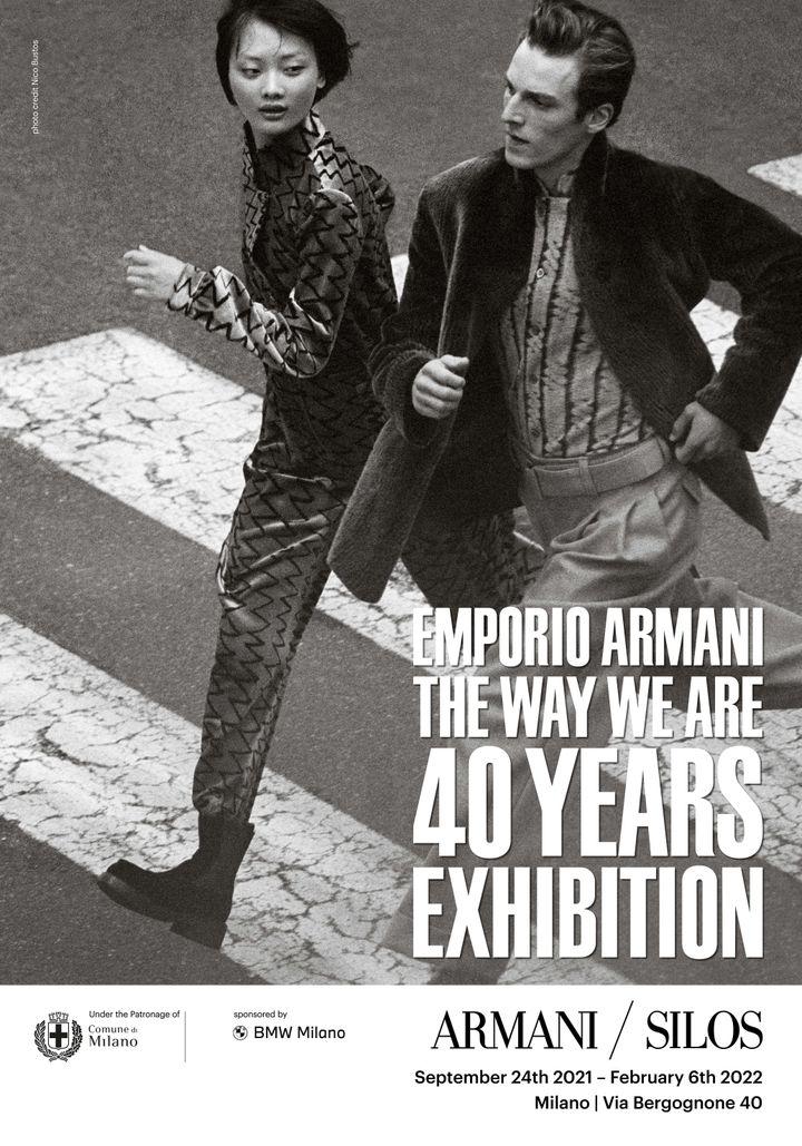 Armani/Silos accueillera The Way We Are, l'exposition-manifesto qui illustre quatre décennies d'histoire de la marque présentées à travers des vêtements, des images et des vidéos résumant son esprit et sa philosophie, auSilos, son quartier général milanais. (Courtesy of Armani)